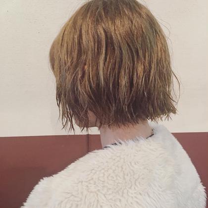 ショート くせ毛をパーマ風に