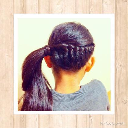 女の子の簡単なまとめ髪♪ ヘアーショップクリコ所属・リコのスタイル