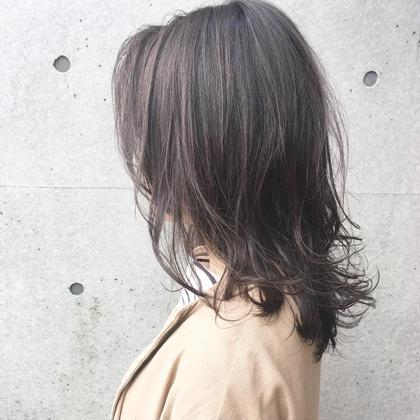 【低ダメージ】ケアカラー+トリートメント