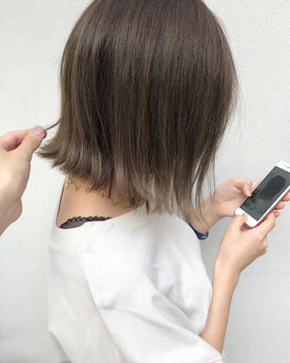 【髪に合わせた薬剤選定】カット+イルミナorエドルorアディクシーカラー+トリートメント