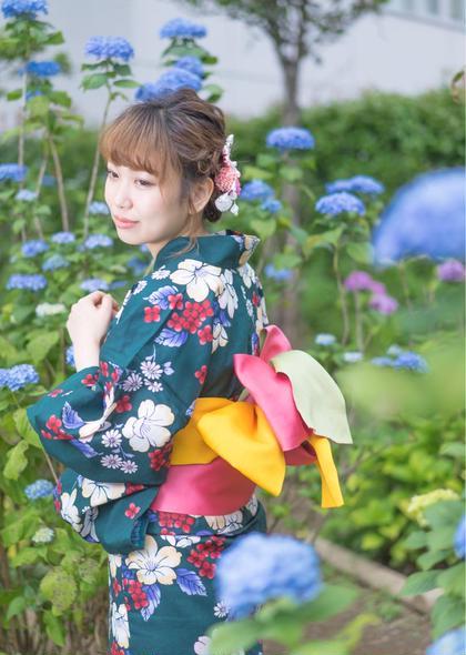 ⭐️花火大会・納涼船に⭐️ヘアアレンジ+浴衣着付け👘 税込5000円!!