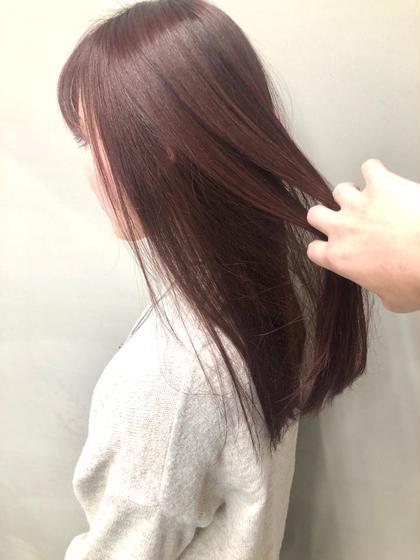 フロントカット🌼+艶髪オーガニック薬剤🌿縮毛矯正🍃