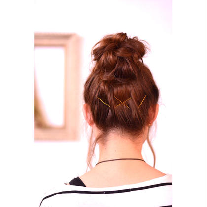 簡単おだんごアレンジ ゴールドのピンが可愛いです soen hair bloom所属・藤野裕一朗のスタイル