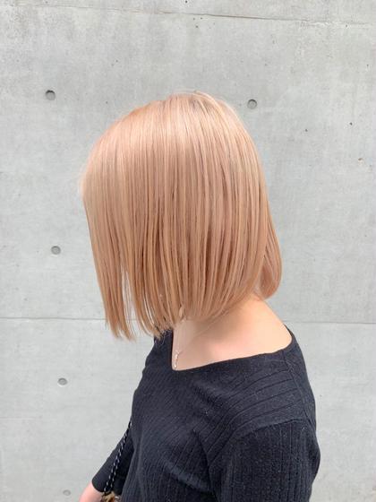 🍯blondebeige ダメージ最小限のやり方でブリーチ ケア剤を使って二回ブリーチしております (MASHU)wiz hair東原店所属・ホンダダイキのスタイル