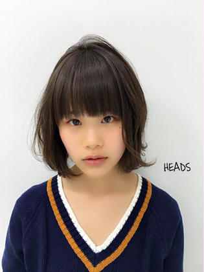 ユルっとしたボブ。 カラーはグレージュです(^o^) HEADS   ex所属・和田善之のスタイル