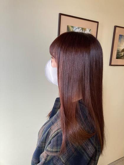 ✨カラーも髪もキレイに✨アルカリ全体カラー+髪質改善トリートメント(ゴールドコース)