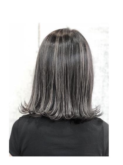 スペシャルウィービング アディクシーカラー サファイア アメジスト 向後 司のミディアムのヘアスタイル
