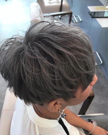 カラー ミディアム メンズ cut / wcolor / high greige✂︎ ベース.バージン毛