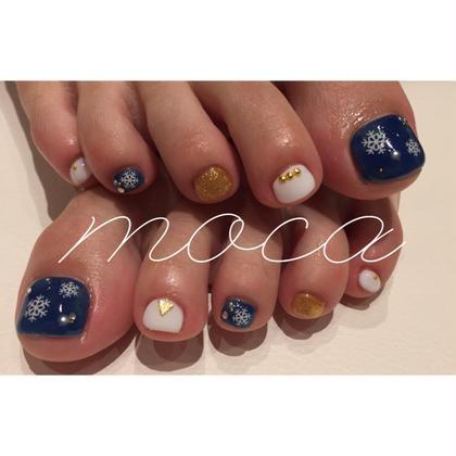 冬もfootnail!雪の結晶シールが人気です(^^) nailsalon   moca心斎橋所属・鈴木ゆいのフォト