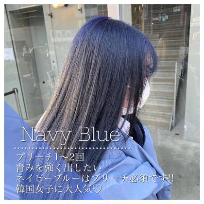🦋ブリーチ有りWカラー+髪質改善+炭酸スパ🦋