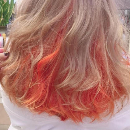 カラー ヘアアレンジ ロング