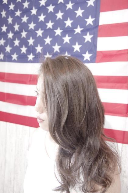ツルツルのデジタルパーマ☆ Luxielオリジナルパーマです! パーマをかける前よりかけた後の方が髪の毛がサラツヤ! カラーは赤味を消したアッシュグレージュ! Luxiel所属・前田優のスタイル