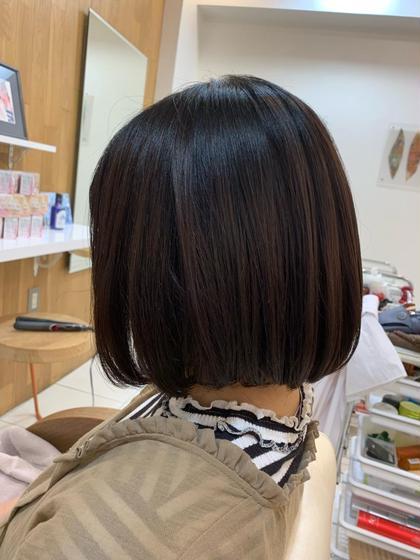 髪質改善TRストレート+カット+ダメージ補修シャンプー+メンテナンスTR+アルカリ除去付き