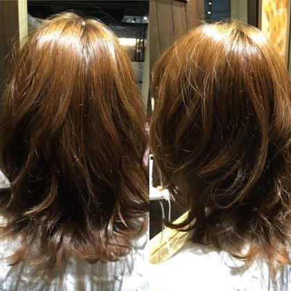 カット+カラー 伸ばしかけの髪も少しのメンテナンスでまとまりと動きを! 表面に段を入れて巻いた時に動きやすくさせていただきました☆ hair&make trois所属・中村直のスタイル