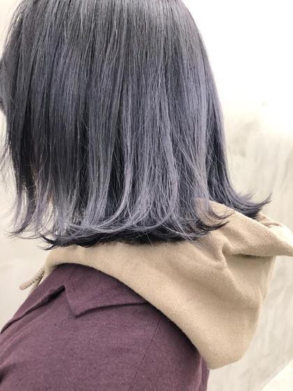 カラー シルバーパープル✨色抜けもキレイ😊