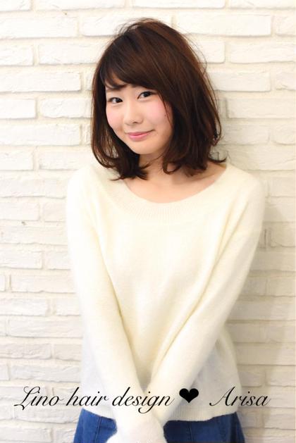 肩はねミディアム☆ リノヘアーデザイン所属・小島愛里彩のスタイル