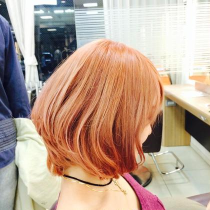 カットは、ショートでスッキリさせました✨  カラーは、ブリーチ+ナチュラルカラーで綺麗なピンクになりました  ブリーチによって、色も綺麗に入るし、ナチュラルカラーよりもより透明感がでるのがやめられません✨ STYLE茅ヶ崎所属・カラースペシャリスト田中零也のスタイル