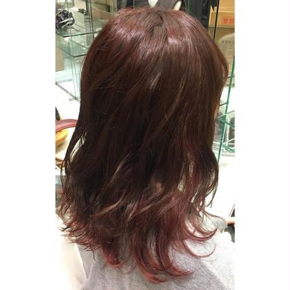 #インナーカラー #秋カラー #ピンク #ピンクブラウン #インナーカラーピンク #デザインカラー  EARTH所属・平澤さくらのスタイル