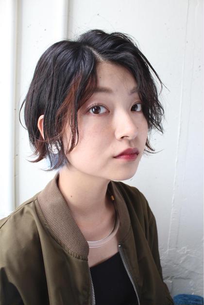 ショート×ハネ感にインナーカラーで動きをプラス。 PAM.所属・代表Yukiのスタイル