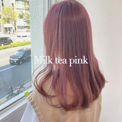 💓ブリーチなしダブルカラー💓ピンク ピンクブラウン ピンクベージュ 今だけ前髪カット付🩰ご要望によりメニュー化🩰