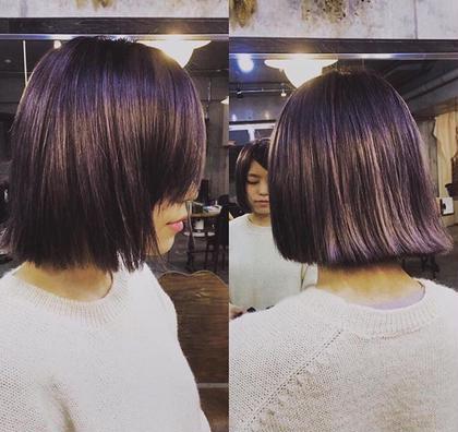 今一番流行りのくすんだヴァイオレットです☆ 紫とグレーを足すことによって暗くてもおしゃれに見せます♫ mowen所属・中元聡のスタイル