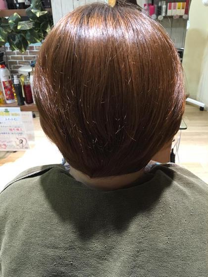 ミントベージュ! ブリーチをしてない細い髪の方でした(*^^*) 明るめにー!  Sepiage-deux所属・権上麗奈のスタイル