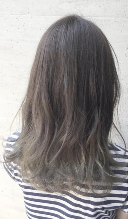 ‼️透明感あるグレージュに…‼️ファイバープレックスブリーチハイライト+イルミナカラー+ケアトリートメント+前髪カット