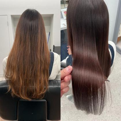 ✨髪質改善✨🗽縮毛矯正+酸熱トリートメント+カット【酸性縮毛矯正】