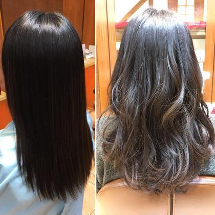 セミロング ミディアム ロング 直毛さんcut✂︎巻くと雰囲気が一気に変わります