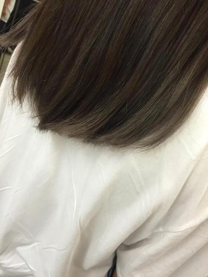 毛先だけに入っていた真オレンジを グレージュに染めてみました★ ABBEY2所属・saekoiizukaのスタイル