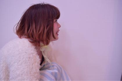 全体ピンクの毛先がグラデーションハイライトがポイントの立体感のあるすたいる! nambuCENTRAL所属・鷲尾幸のスタイル