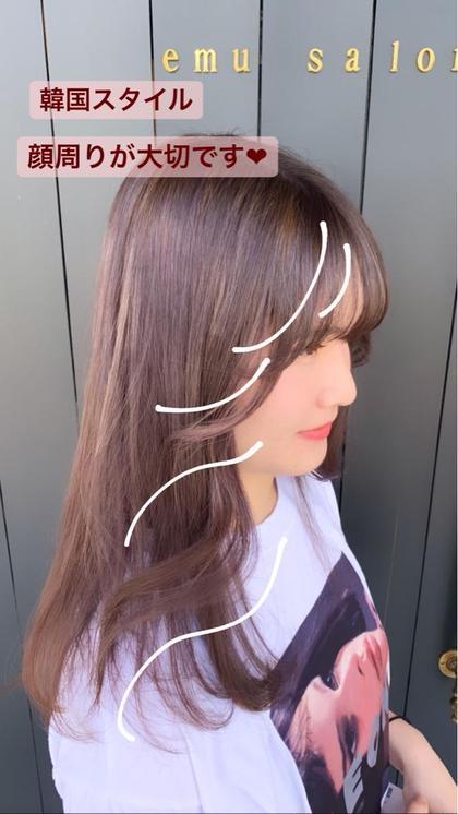 *韓国式シースルーバング後れ毛カット(前髪カット)