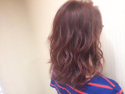 カラー ショート セミロング ミディアム cherry pink brown × high light ♡