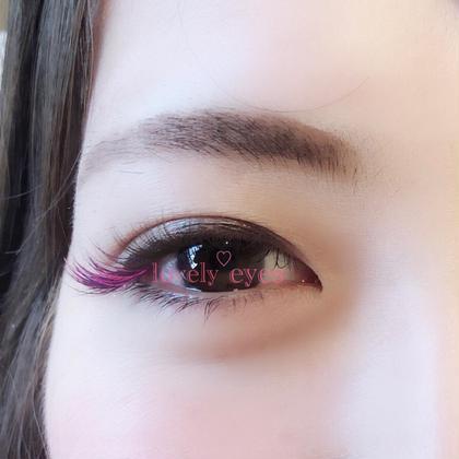 目頭から、 10ミリ、11ミリ、12ミリ 全てCカールの0.15で、目尻に紫とピンクを混ぜたデザインになります♪ lovely eyes所属・ラブリーアイズ(木野)のフォト