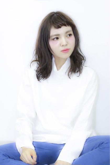 セミウエットにしたスタイルです。巻いたあとに軽めのジェルが○ GALLARIA Elegante 春日井店所属・YOKOISHINJIのスタイル