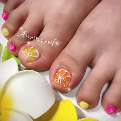 柑橘系フットネイル