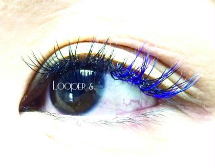 目尻に寒色系のカラーエクステを付けてみました!  Looper &..所属・looper&..のフォト