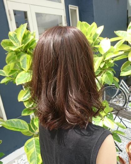 オーガニックカラー & 潤いトリートメント (前髪カット付)
