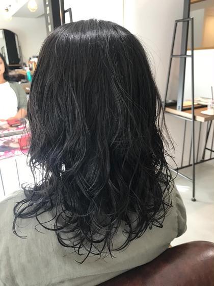 ロング 黒髪ロングゆるふわウェーブ!