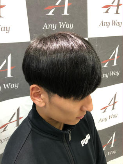 黒髪韓流マッシュ✂️✂️ AIZU所属・✨カラーマジシャン✨AKUTAGAWAのスタイル