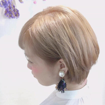 松尾晴奈のショートのヘアスタイル