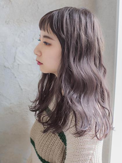 【外国人風】ケアブリ-チ+カット+カラ-+プラチナTr \14380→\13900