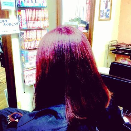 ダブルカラーでベリーピンクに。 hair and make R【ヘアーアンドメイク アール】 所属・吉田 佳代のスタイル
