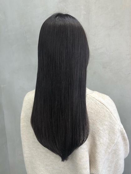 髪質改善🌟コスメストレート❣️アイロンを使わずボーリュームダウン✨