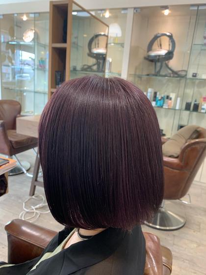 【写真の色をあなたの髪に✨】ケアブリーチ&プレミアムWカラー+高品質トリートメント
