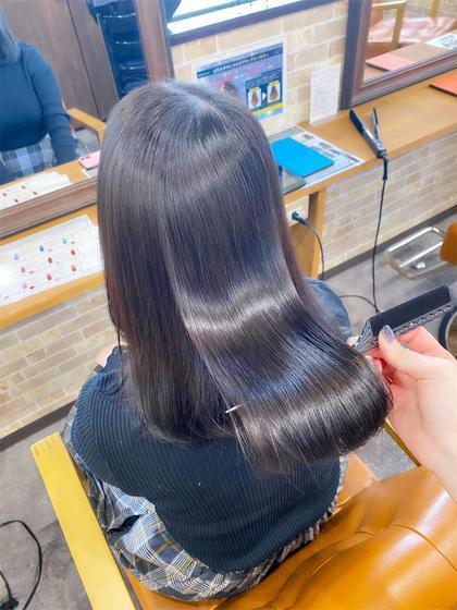 ✨圧倒的艶髪✨超音波アイロン💎艶感ケアカラー+ 毛髪補修Aujua TR💎¥7000