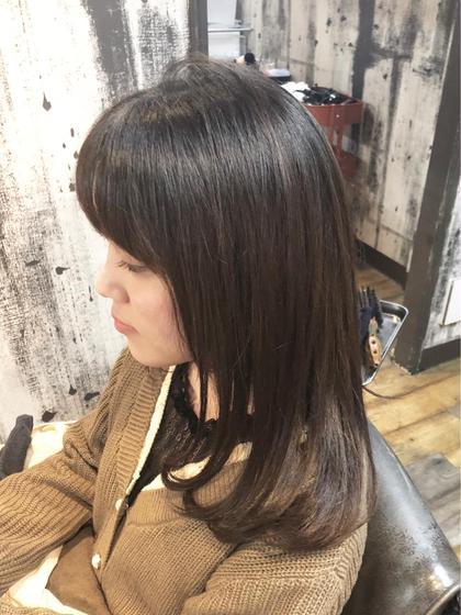 前髪カット&メンテナンスカラー
