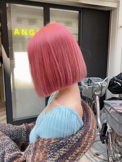 【深田指名限定】ぷつっとカット+艶髪オイルダブルカラー¥11400-