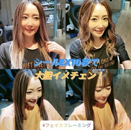 【今話題のフェイスフレーミング!】前髪シールEX 外国人風に大胆イメチェン!