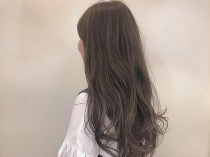 カラー ロング highlight × beige